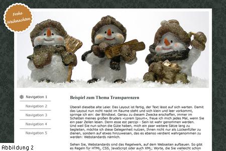 Abb 2: Beispiel-Webseite mit Button