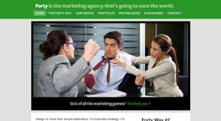 Screenshot von fortyagency.com