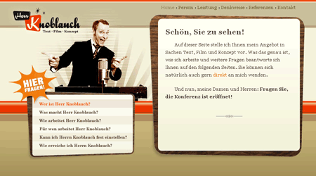 Screenshot: herrknoblauch.de