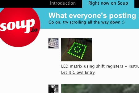 Screenshot der Webseite soup.io