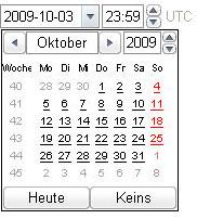 Screenshot vom neuen Input-Typ datetime