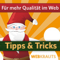 Banner Webkrauts-Adventskalender 2009, 125 x 125 Pixel