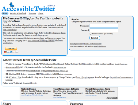 Screenshot von accessibletwitter.com