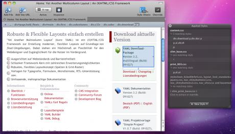 Screenshot CSSEdit