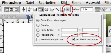 Versteckte Optionen in Photoshop CS3 und 4
