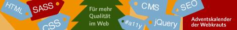 Banner 468x60px für den  Adventskalender 2012 der Webkrauts